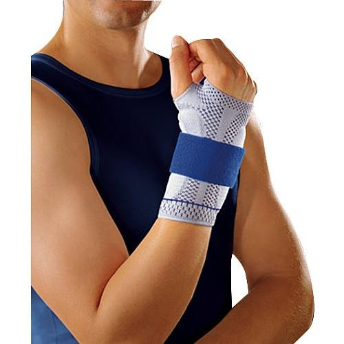 Bauerfeind 11051503080603 Manutrain Wrist Support, Right, Size 3, 6-1/4''-6-3/4'' Circumference, Titan/Blue by Bauerfeind