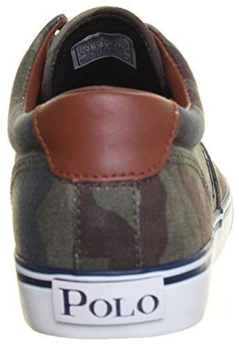 Ralph Lauren Falmuth Hi - Zapatillas de cuero para niño verde - Green Camo 2