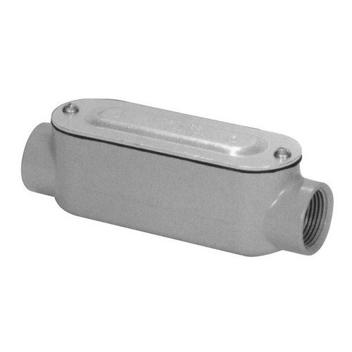 Morris 14135 Rigid Conduit Body, Aluminum, Type C, Threaded with Cover and Gasket, 2