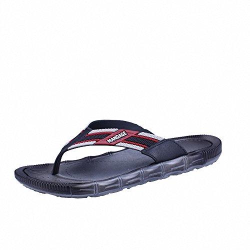 Ben Sports Mens Cool Beach Summer Thong Flip Flops Flats Sandals Slippers Black
