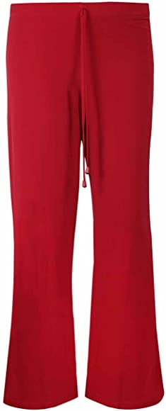 New Womens Plain Wide Leg Trousers Ladies Stretch Palazzo Pants Plus Size 12-30