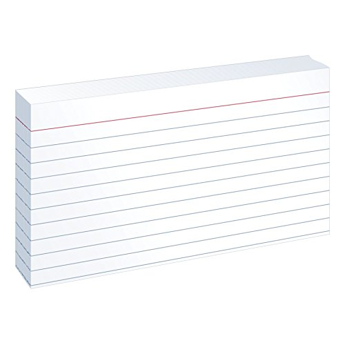 Oxford Ruled Index Cards 3 x 5 Inches White 100 Cards per Pack (31)
