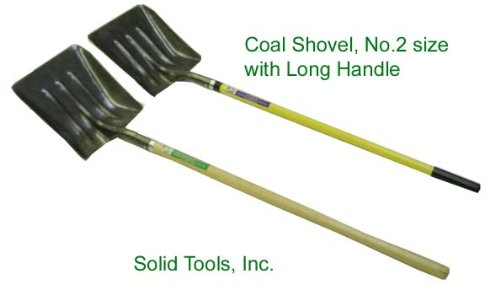 Steel Coal Shovel with Long Fiberglass Handle by Forgecraft USA
