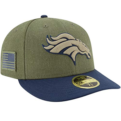 ボーダー腫瘍加害者ニューエラ (New Era) 59フィフティ LP キャップ - Salute to Service デンバーブロンコズ (Denver Broncos)