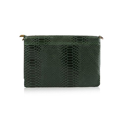 Shut 2018 Handbag Detail Flap Textured Bottle Italian Green Leather Genuine Women's Design Body Trendy Cross Cashmere Mayfair Fringe nxSXP