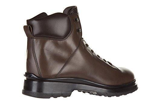 Tod's bottes pour homme en cuir montagna basso fondo caoutchouc marron