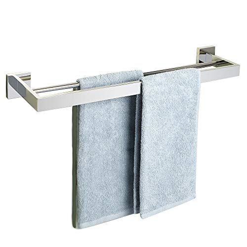 (Alise GA7202-C Bathroom Double Towel Bar Wall Mount 24-Inch,SUS304 Stainless Steel Polished Chrome)