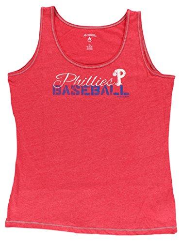 Antigua Womens Philadelphia Phillies MLB Sports Tank Top Red L