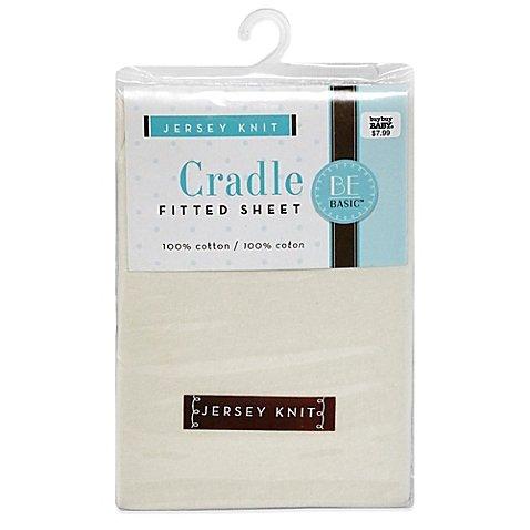 "BE Basicâ""¢ Bambino Basics Jersey Knit Cradle Sheet in Ecru"