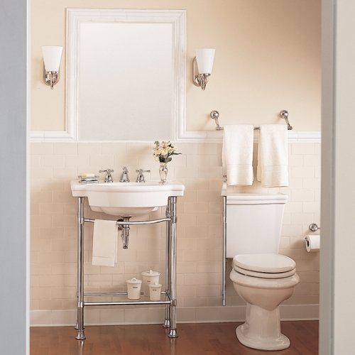 Bon American Standard 0282.008.020 Retrospect Pedestal Console Sink Top With  8 Inch Faucet Spacing, White   Small Console Sink   Amazon.com