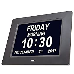 Vobot Day Clock Extra Large Impaired Vision Digital Clock with Time, Day and Date, Month and Year showing, Perfect Gift for Elderly