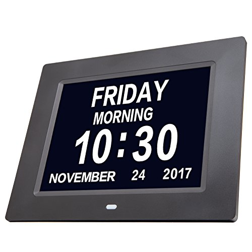 Day Clock Extra Large Impaired Vision Digital Clock with Time, Day and Date, Month and Year showing, Perfect Gift for Elderly