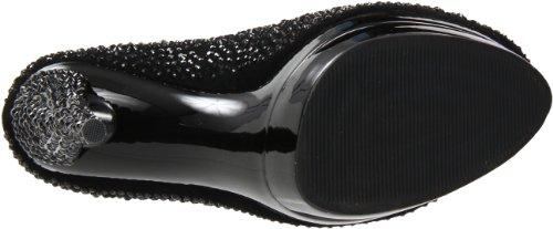 Pleaser Day & Night - zapatos de tacón mujer Blk Suede/Blk
