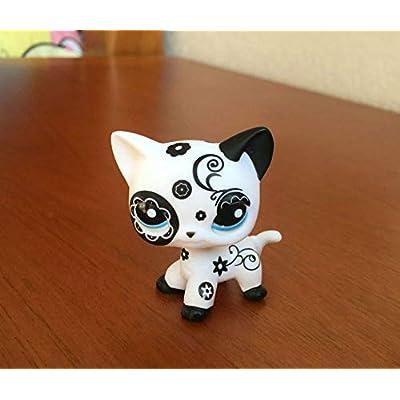 Littlest Pet Shop Custom OOAK LPS Short Hair Cat Flower Hand Painted Figure: Toys & Games