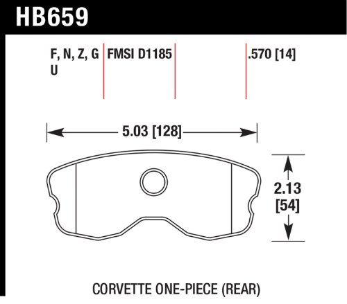 Hawk Performance HB659F.570 HPS Brake Pad for Chevy Corvette GS/Z06