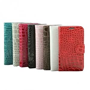 Crocodile Pattern Synthetic Leather Case For Samsung Galaxy S4 I9500 --- Color:Black
