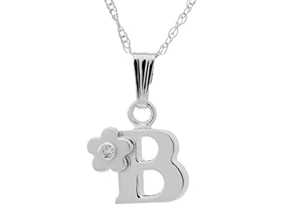 Finejewelers Sterling Silver Initial G Pendant Necklace Chain Included