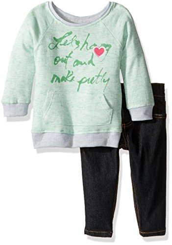 kensie-baby-girls-slub-melange-with-lurex-french-terry-pullover-and-stretch-denim-pant-mint-24m