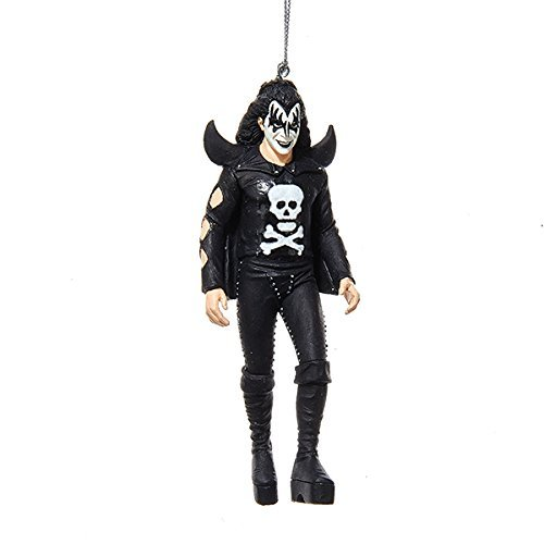 Kurt Adler 5 Inch Kiss Gene Simmons Resin Figurine Christmas Ornament