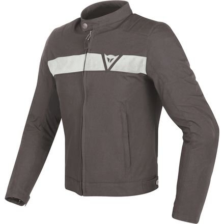 Dainese Stripes (Dainese Stripes Textile Mens Motorcycle Jacket Dark Brown/White 50 Euro/40 USA)
