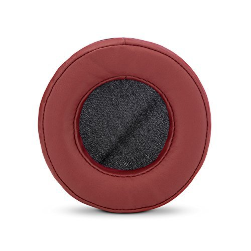 Brainwavz Round Replacement Memory Foam Earpads - Suitable for Many Other Large Over The Ear Headphones - Sennheiser, AKG, HifiMan, ATH, Philips, Fostex, Sony (Dark Red)