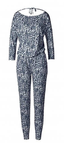 CURARE Yoga Wear Flow # 223 Jumpsuit, leoprint-blue, medium ...