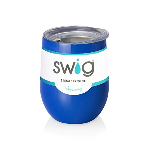 Royal Blue Swig  Wine Tumbler