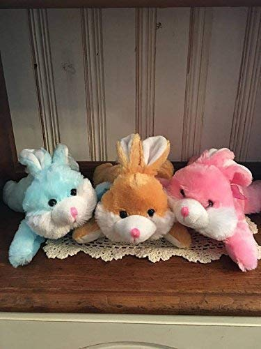 Adorable Personalized | Small Easter Plush | Stuffed Laying Down Toy | Bunny | Duck ()