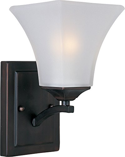 Maxim 20098FTOI Aurora 1-Light Wall Sconce Bath Vanity, Oil Rubbed Bronze Finish, Frosted Glass, MB Incandescent Incandescent Bulb , 100W Max., Damp Safety Rating, Standard Dimmable, Glass Shade Material, 4600 Rated Lumens by Maxim Lighting (Image #2)