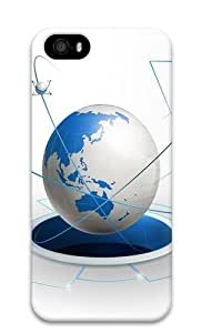 3d earth PC Case Cover for iPhone 5 and iPhone 5s 3D