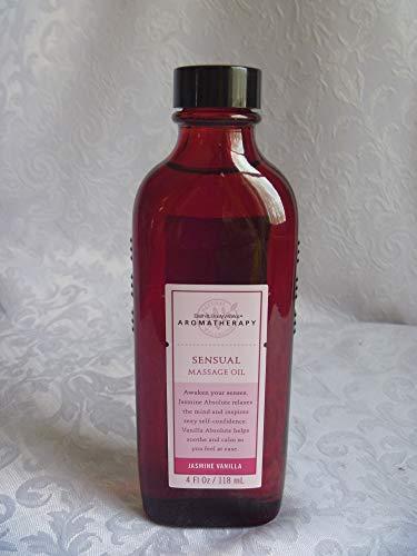 Bath & Body Works Aromatherapy Jasmine Vanilla ~ Sensuality ~ Massage Oil, 4 fl. oz. (118 ml)