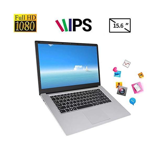 "15.6 "" Notebook - YEPO N15 15,6 pollici IPS 1920 x 1080 HD Notebook PC Laptop per Windows 10, per CPU Intel Celeron N3350, DDR3 6GB, 64GB EMMC, Supporto USB/Bluetooth 4.0/Mini HDMI/WiFi(Spina UE) 1 spesavip"