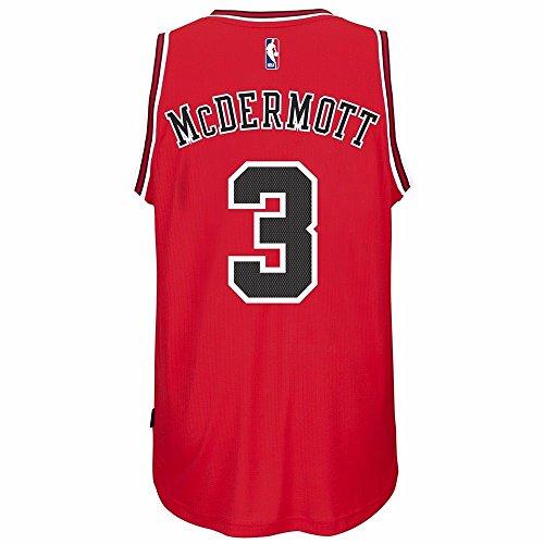 Chicago Bulls Adidas NBA Doug McDermott #3 Road Swingman Jersey. (Red) 2XL