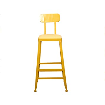 xueping amricain fer jaune bar tabouret bar tabouret caf th boutique chaises haute chaise dcontract tabouret - Tabouret Bar Fer