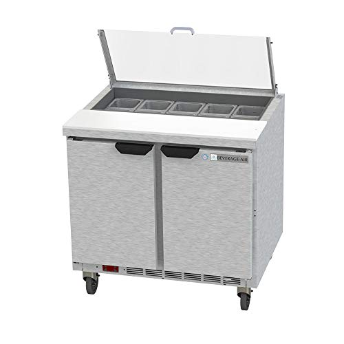 - Beverage Air SPE36HC-10-CL Elite Series Clear Lid Sandwich Top Refrigerated Counter, 36