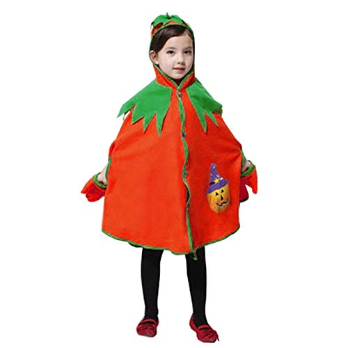 Baby Halloween Costume,Leegor Kids Children Pumpkin Hooded Cosplay Cape Robe Boys Girls Cloak Coat