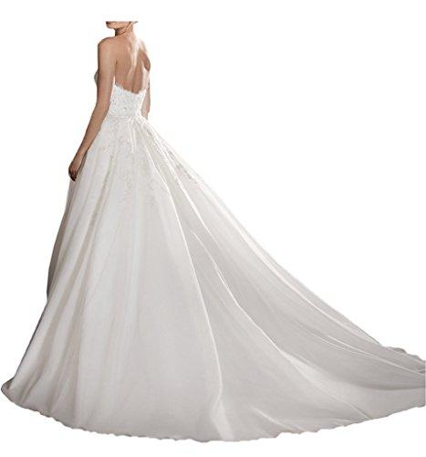 Victory Bridal 2016 Neu exquisit Brautkleider Kleider fuer besondere Anlaesse Herzausschnitt Duchesse-Linie Kathedrale-Schleppe Schleier