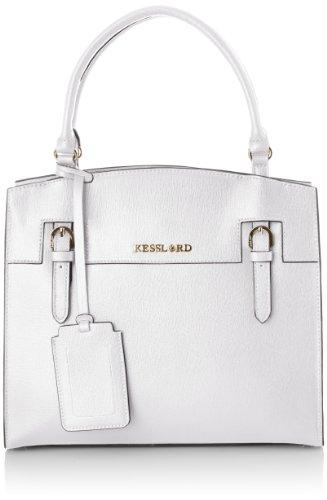Kesslord Womens Solene Top-Handle Bag Blanc (Blanc)
