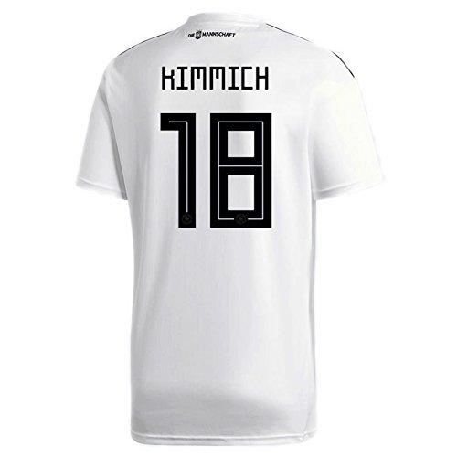アサー不機嫌愛撫Adidas Kimmich # 18 Germany Home Soccer StadiumメンズS/S Jersey World Cup Russia 2018