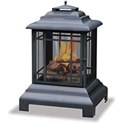 "Uniflame 28-Inch All Around Firehouse Outdoor Fireplace ""Prod. Type: Outdoor Living/Firepits & Outdoor Fireplaces"""