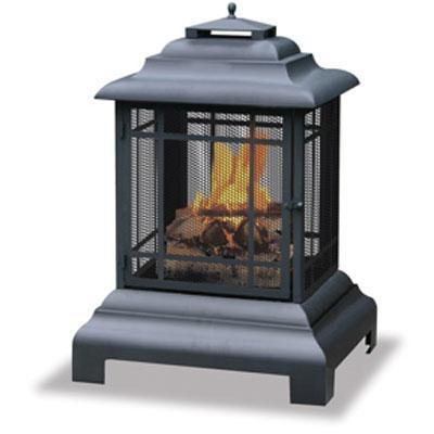 Uniflame 28-Inch All Around Firehouse Outdoor Fireplace