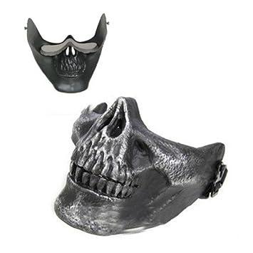 SODIAL(R)) Mascara Diseno de Craneo Esqueleto para Halloween: Amazon.es: Deportes y aire libre