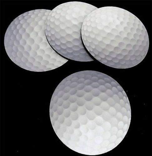 Coaster Golf Set - GOLF BALL Golfer Design NEW Bar 4 Coaster Drink Set Patch Biker Gift COA-0049