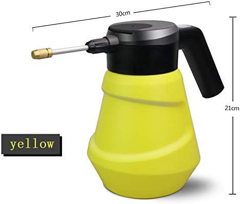 Qiyuezhuangshi001 新しいUSBは、缶水まき缶リチウム電池充電式防水家庭用散水ポット2Lの水やり電動噴霧器を充電します (色 : 黄)