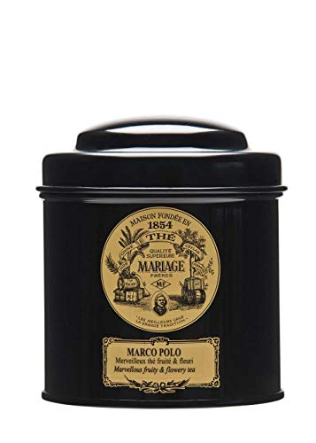 MARIAGE FRERES. Marco Polo Tea, 100g Loose Tea, in a Tin Caddy (1 Pack) Seller Product Id MR24LS - USA Stock by Mariage Freres