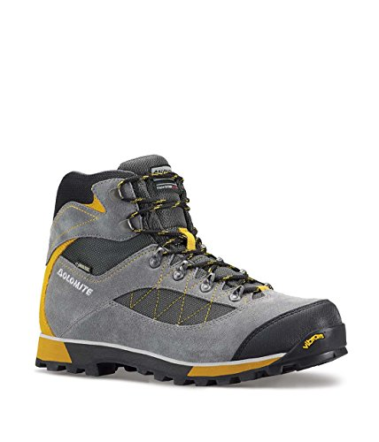 BOOTS DOLOMITE ZERNEZ GTX FOR TREKKING SOLE VIBRAM GREY YELLOW