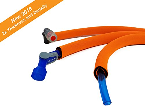 Insulated Hose - Hydration Pack Insulated Drink Tube Hose Cover Sleeve (Fluorescent Orange, 36)
