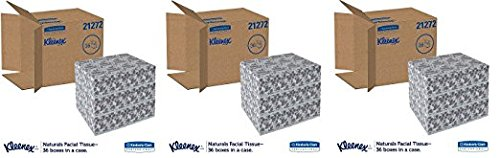 Kleenex 21272 Naturals Facial Tissue, 2-Ply, White, 95 Per Box (Case of 36 Boxes) (.3 PACK)