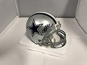 Troy Aikman Signed Autographed Dallas Cowboys Mini Helmet GTSM Aikman Hologram & COA Card