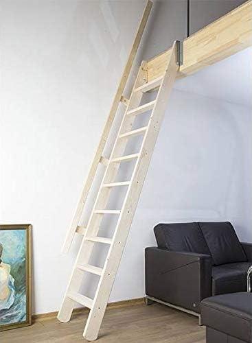 Escalera plegable de madera natural: Amazon.es: Bricolaje y herramientas